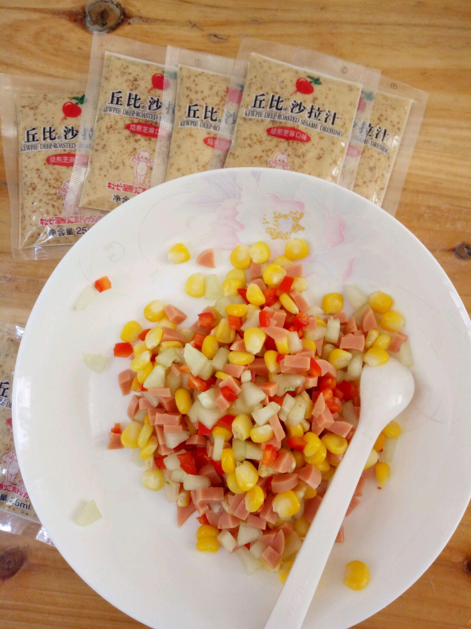 西式拌饭#丘比沙拉汁图片