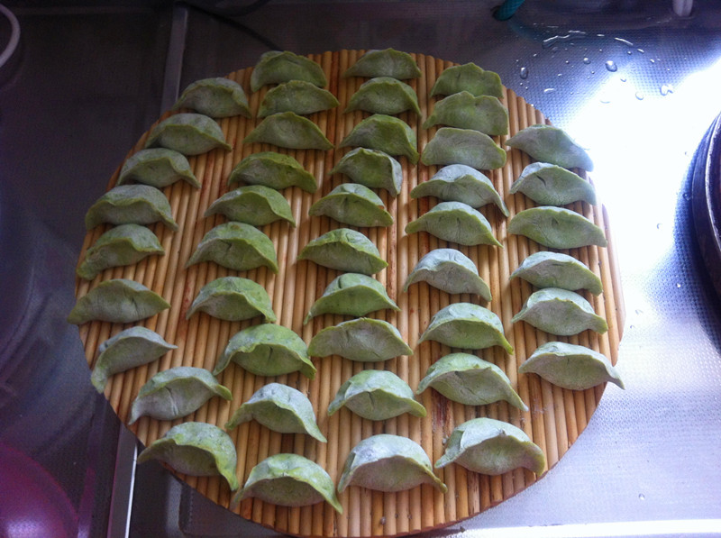 五彩饺子的做法图解1