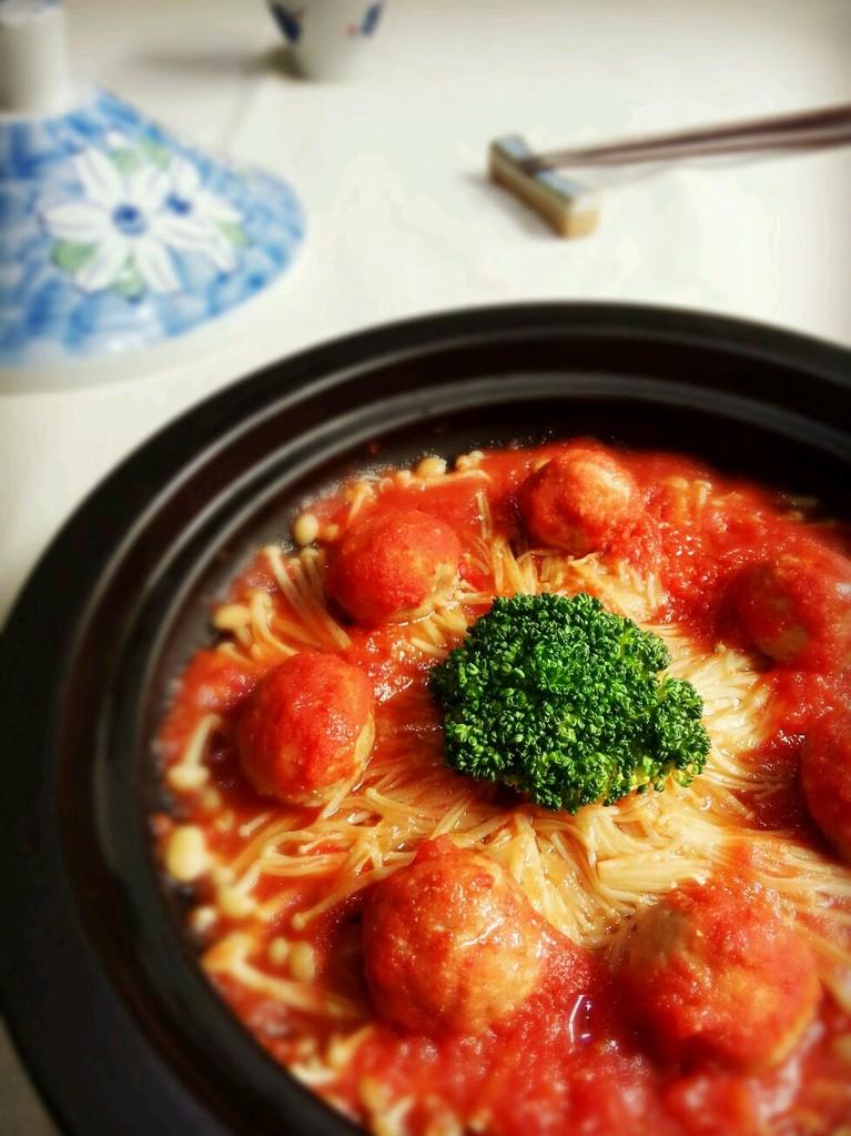 茄汁焖牛肉丸——塔吉锅菜谱的做法