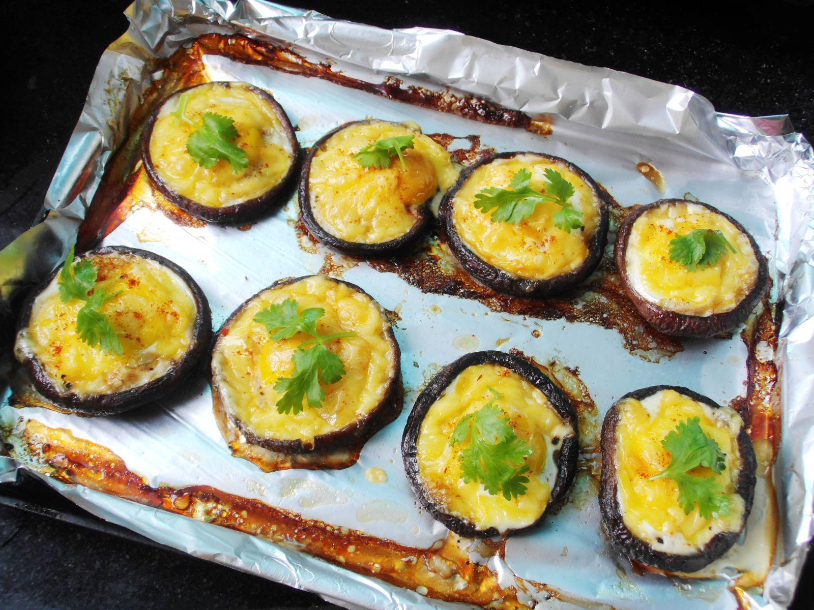 奶酪鹌鹑蛋烤香菇的做法图解6