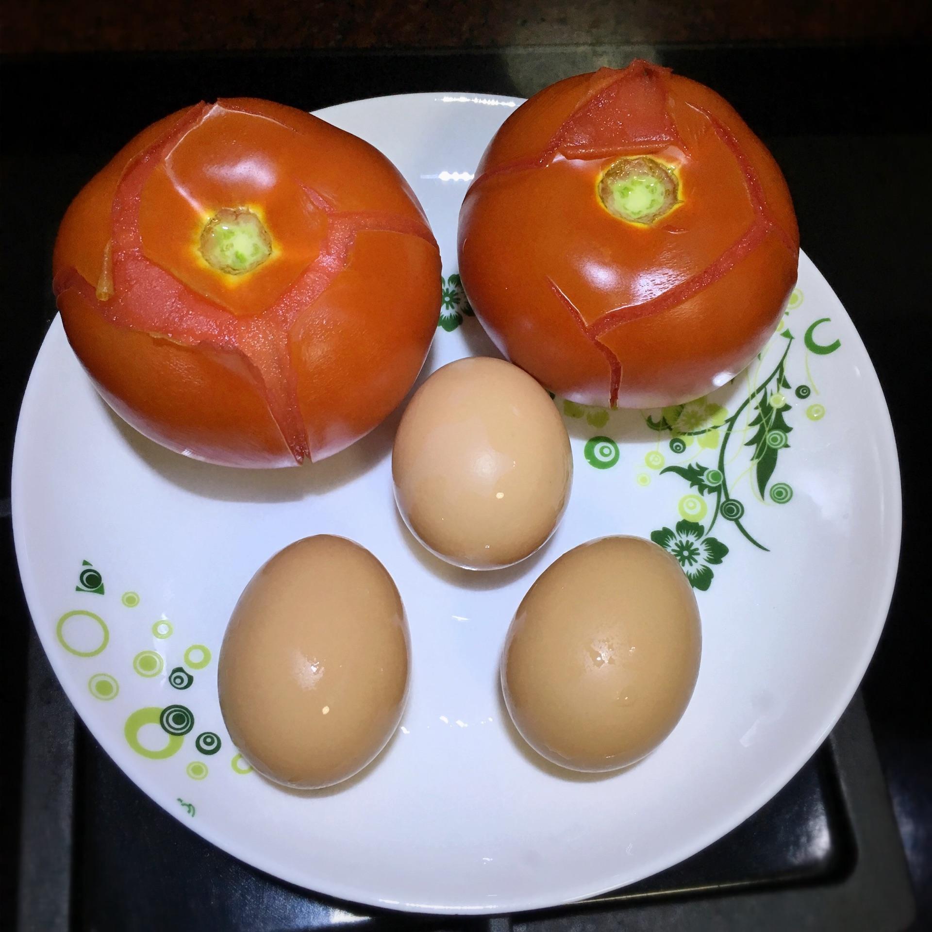 西红柿鸡蛋简笔画