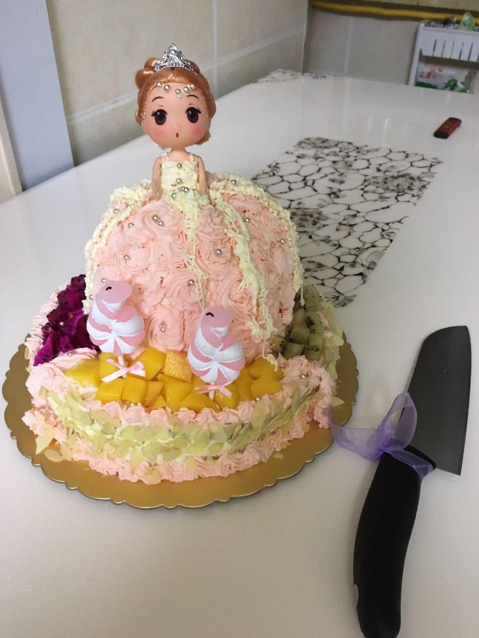 芭比娃娃蛋糕的做法图解5