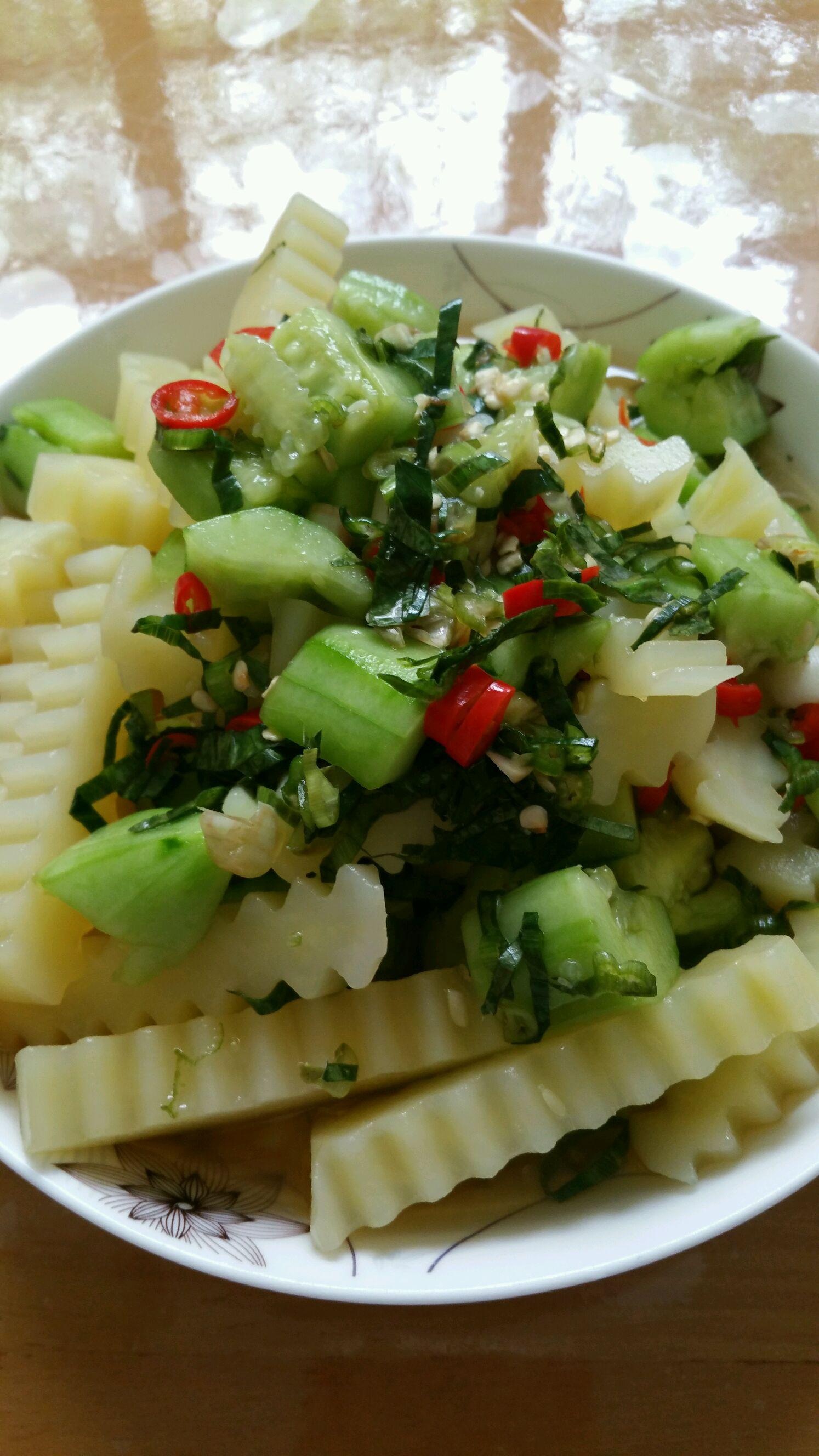 清爽傣味凉菜的做法_【图解】清爽傣味凉菜怎么做