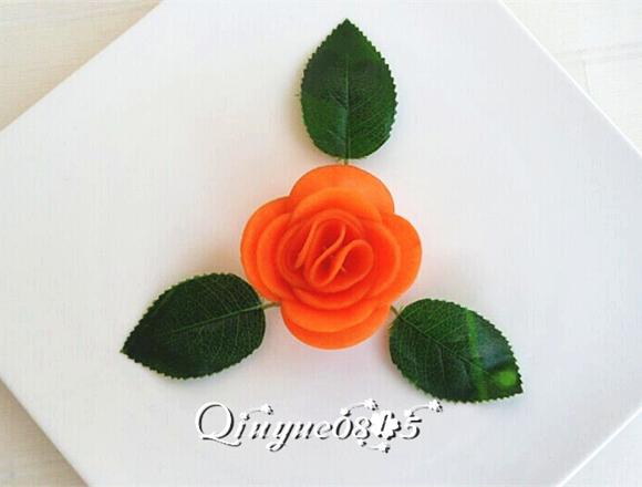 胡萝卜玫瑰花的做法图解10