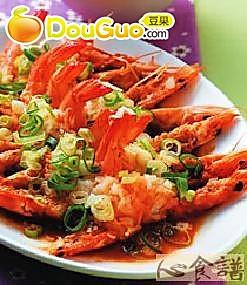 蒜泥虾的做法