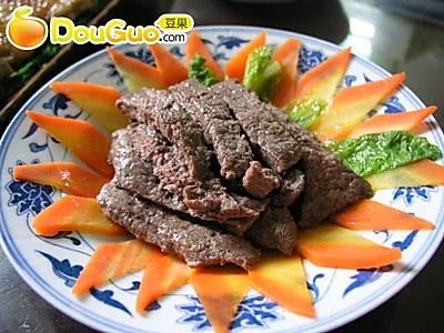 松茸降霜牛柳--减肥食谱的做法_【图解】松茸豆腐烧大肠图片