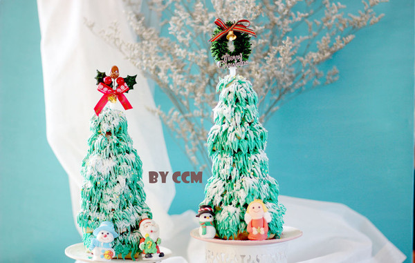 甜甜圈圣诞树