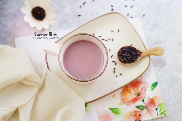 紫米花生芝麻糊