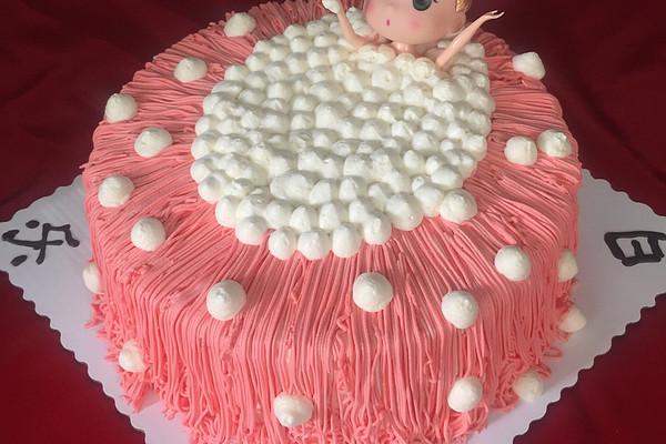 沐浴芭比娃娃蛋糕#豆果5周年#的做法_【图解】沐浴#豆