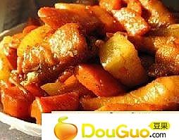 胡萝卜炒雉鸡肉的做法