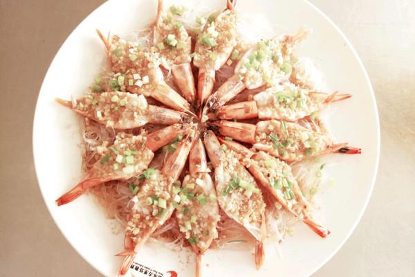 蒜蓉粉丝开背虾的做法_【图解】蒜蓉粉丝开背虾怎么做