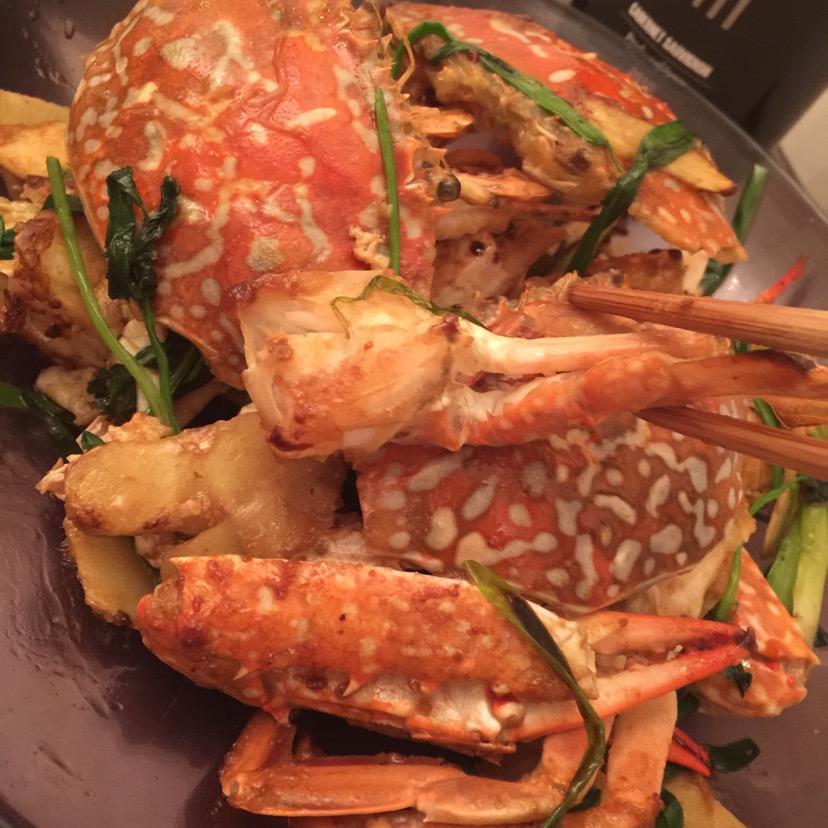 姜葱炒花蟹的做法图解4
