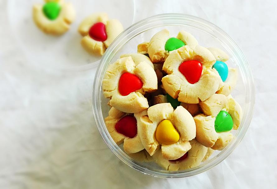 可爱的彩豆玛格丽特饼干的做法