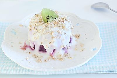 紫薯酸奶杯 宝宝辅食微课堂