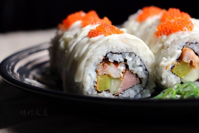 烤虾反卷寿司的做法_【图解】烤虾反卷寿司怎么做如何