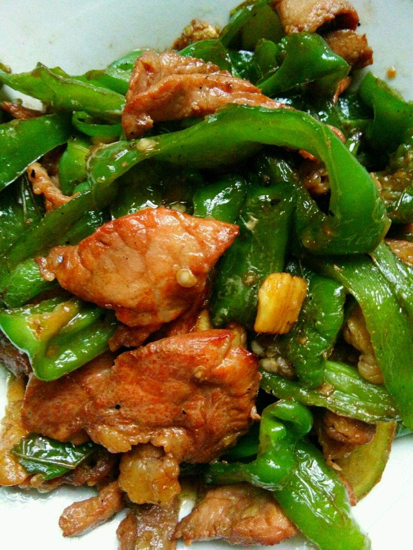 青椒炒肉片的做法步骤