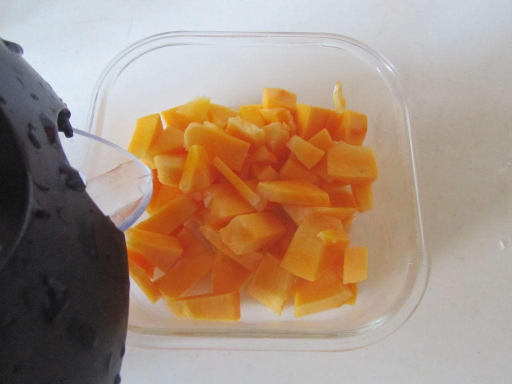 红豆酒酿南瓜小汤圆的做法图解4