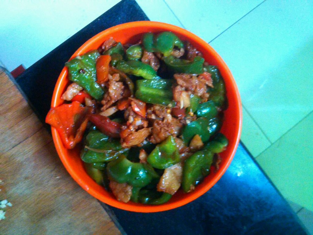 青椒炒肉的做法步骤