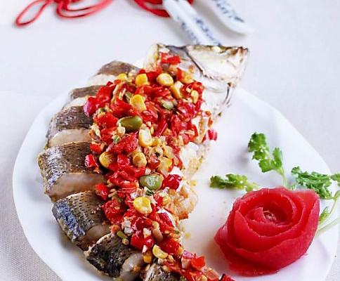 五彩剁椒鱼的做法_【图解】五彩剁椒鱼怎么做如何做