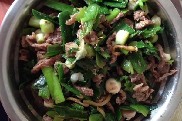 大蒜炒牛肉的做法步骤