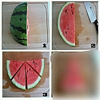 西瓜切法的做法图解2图片