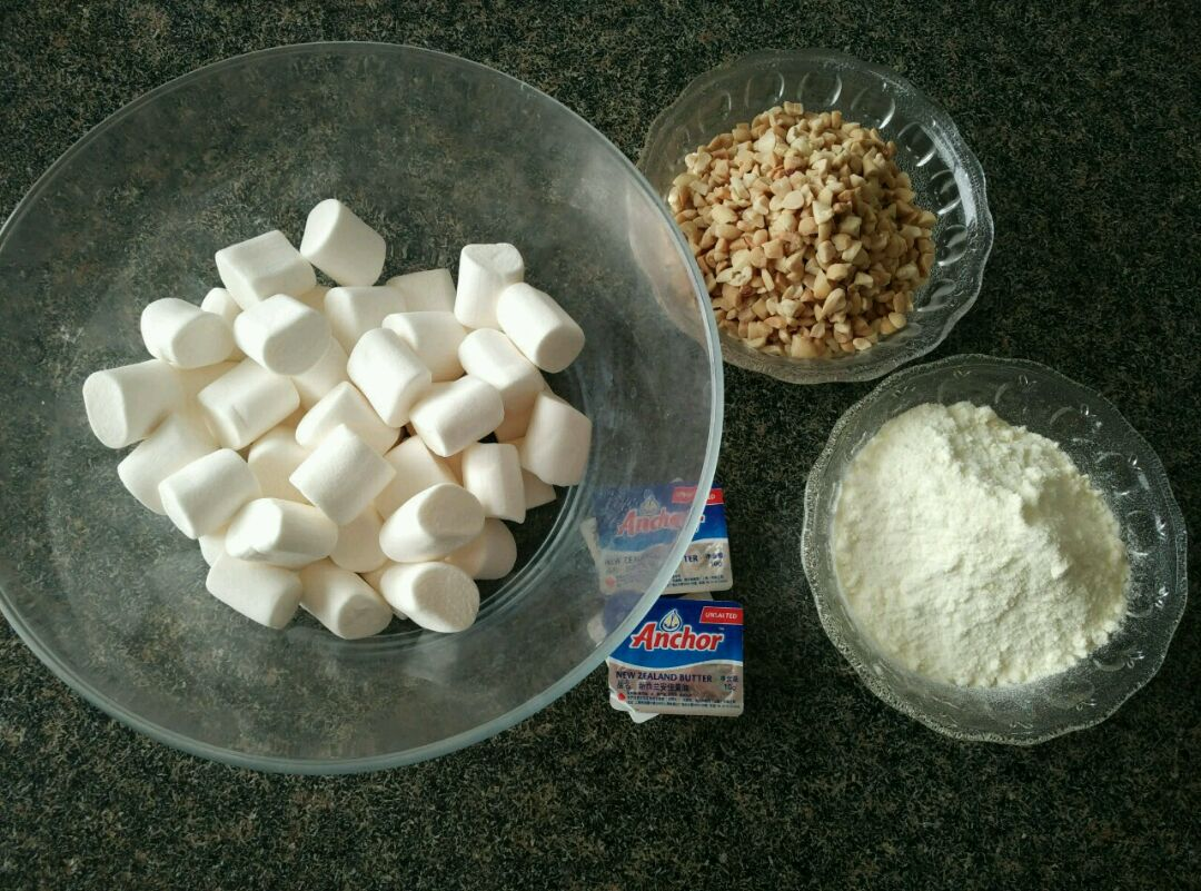 手工牛轧糖的做法图解1
