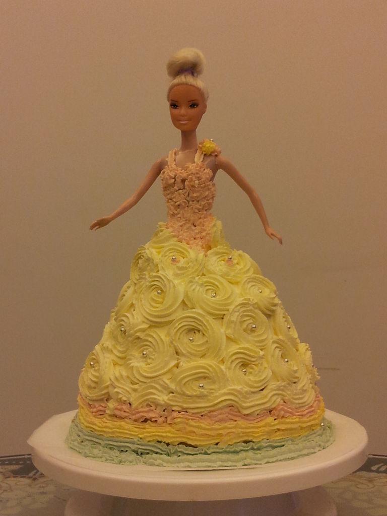 芭比娃娃蛋糕的做法图解6