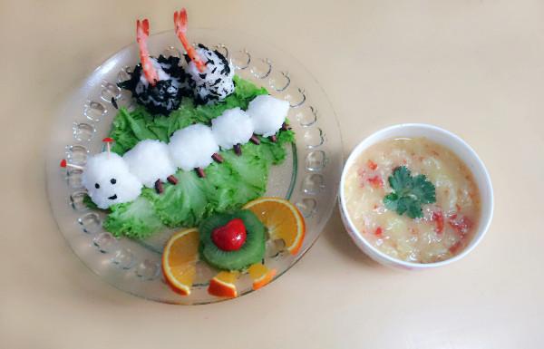 蚕宝宝饭团的做法_【图解】蚕宝宝饭团怎么做如何做