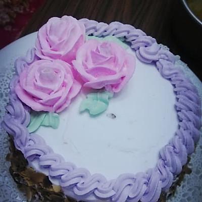 玫瑰花裱花蛋糕——长帝烘焙节