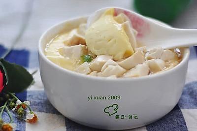 豆腐蒸水蛋#美的微波炉菜谱#