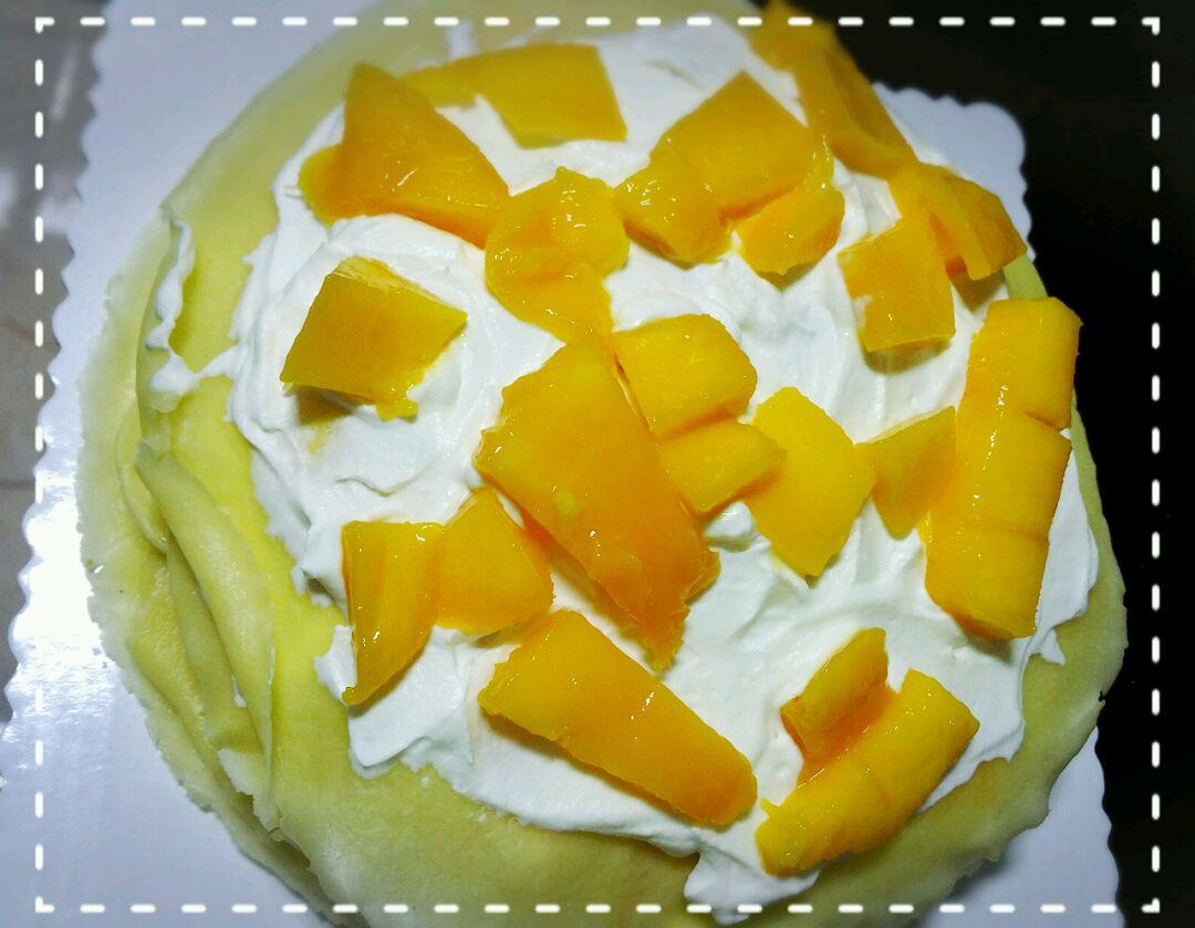 淡奶油 芒果 砂糖 香香甜甜芒果千层蛋糕的做法步骤 小贴士 饼皮是这