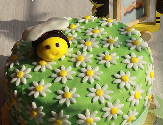春天来了 小蜜蜂翻糖蛋糕 附翻糖蜜蜂的细节做法