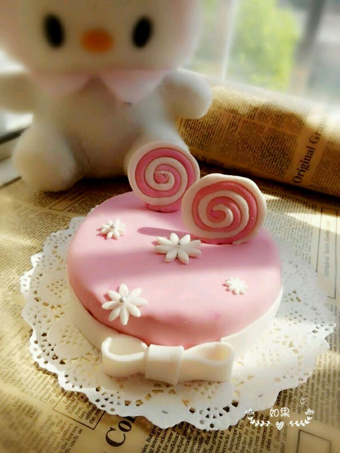 翻糖蛋糕#豆果5周年图片