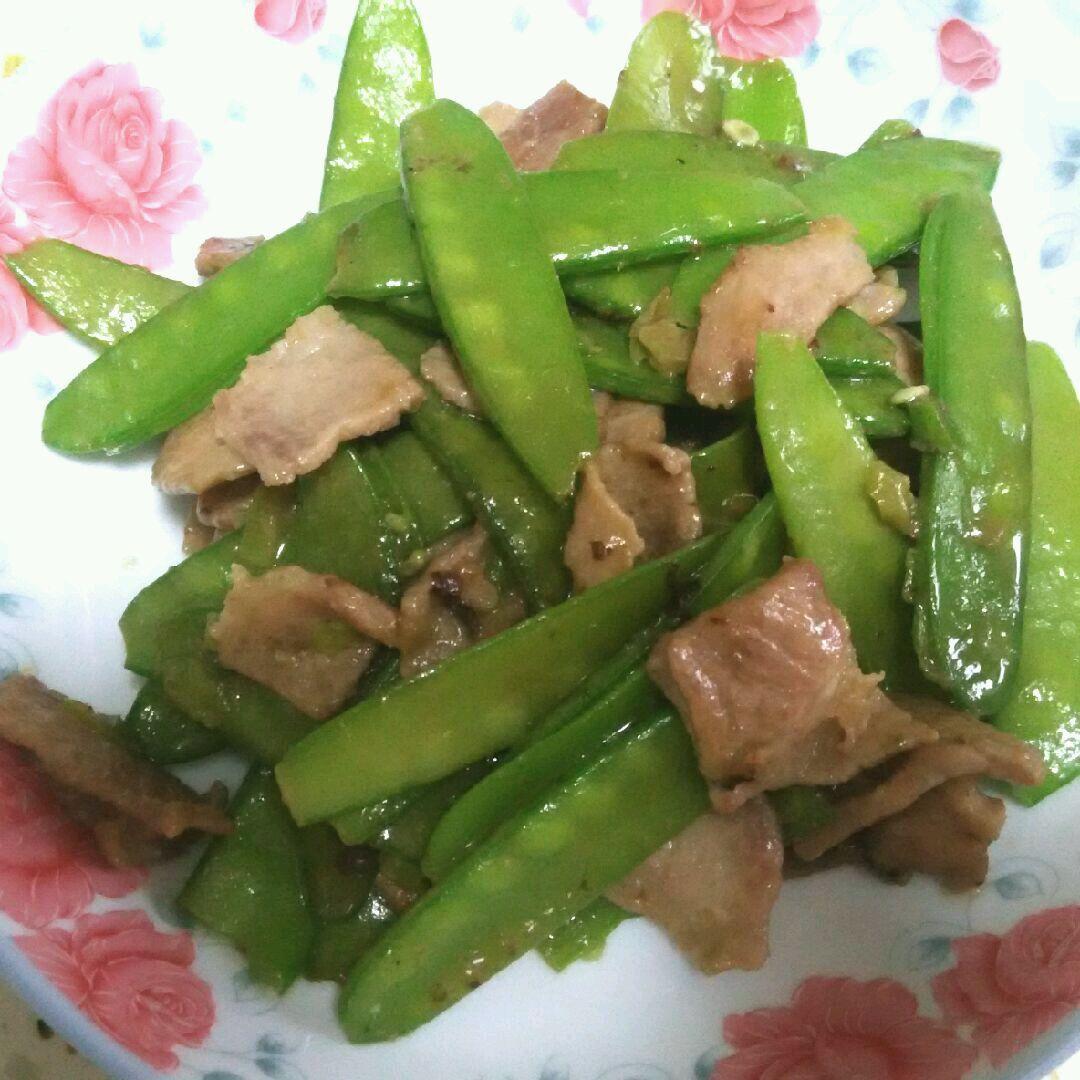 肉炒荷兰豆的做法_【图解】肉炒荷兰豆怎么做如何做