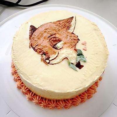 奶油霜手绘蛋糕
