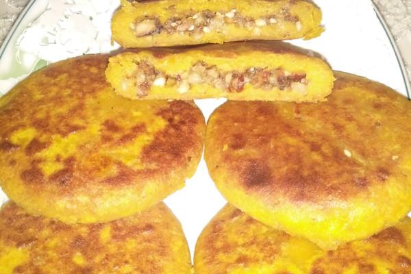 黄金杂粮柿子饼的做法_【图解】黄金杂粮柿子饼怎么做