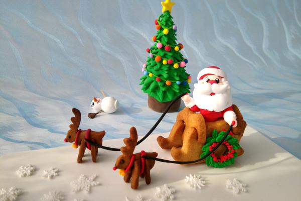 圣诞老人手工制作立体