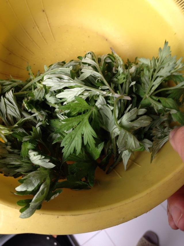 香喷的蒿菜饭(社饭)的做法图解1