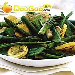 龙蒿热拌春蔬的做法