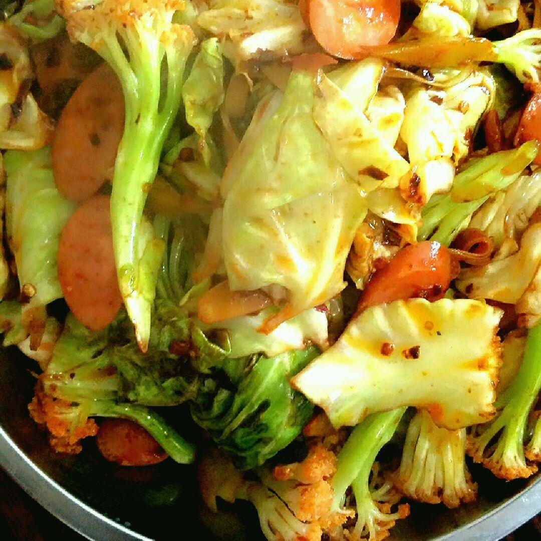 干锅包菜的做法图解9