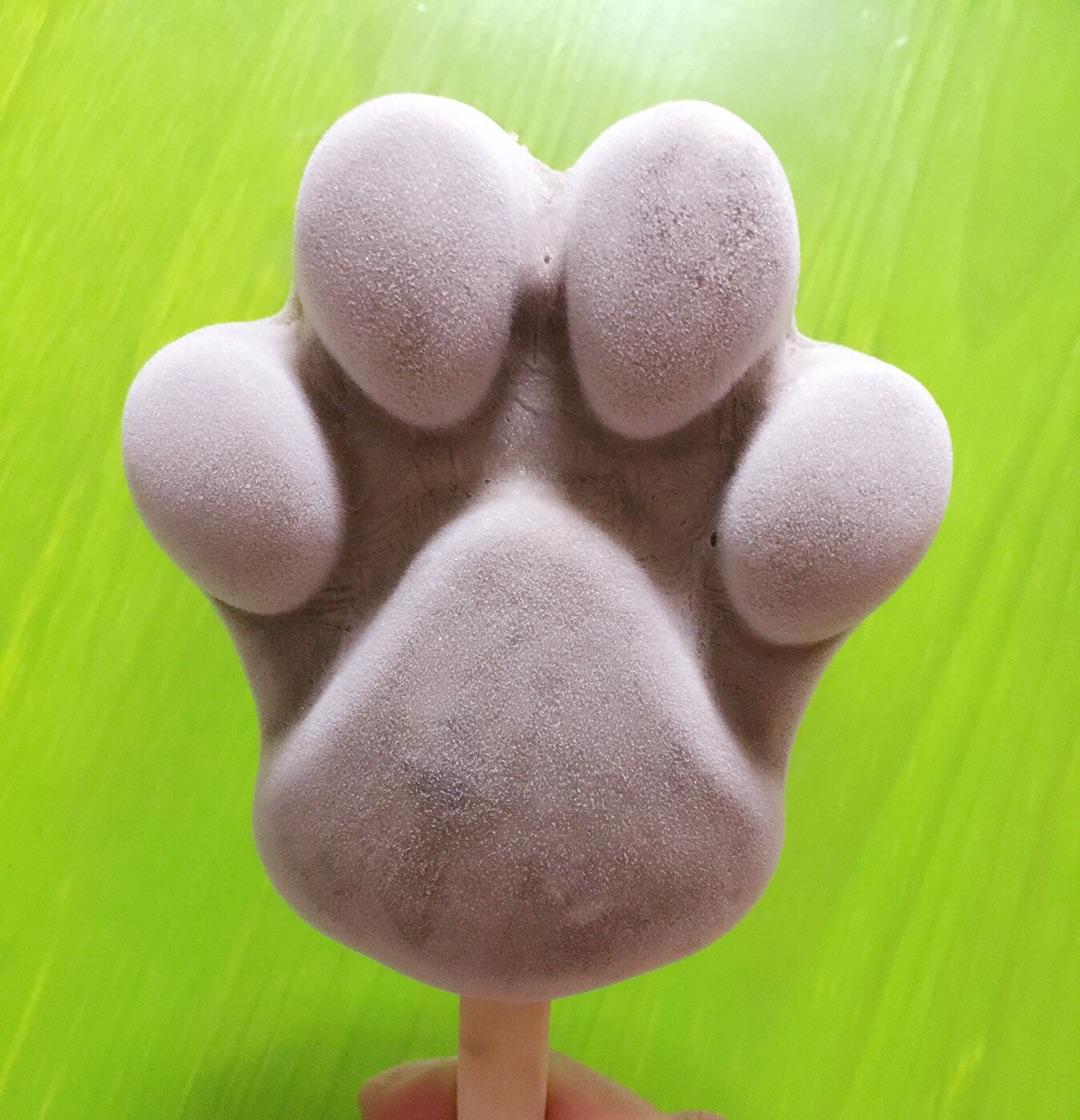 """美味又卡通的狗爪红豆沙冰棒的做法步骤 小贴士 自制:可爱的""""[em]e400"""