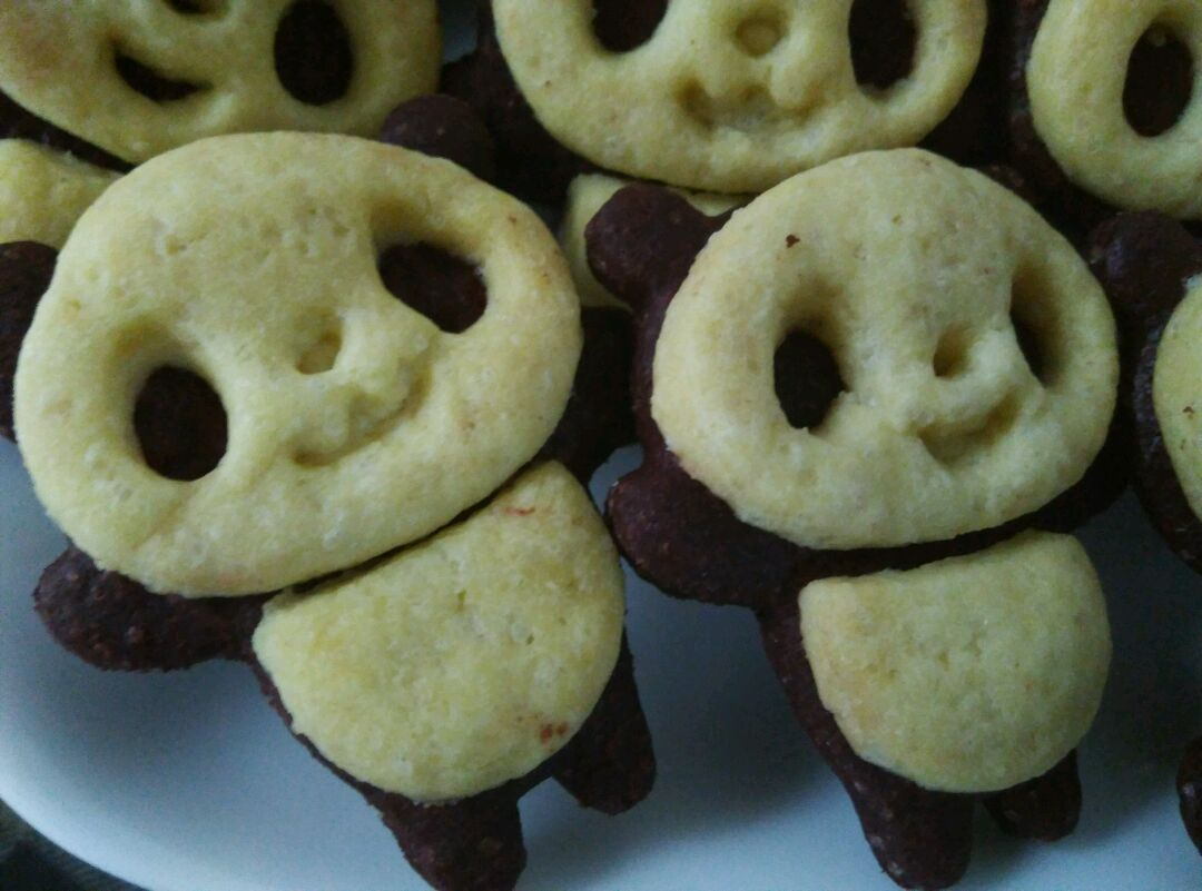 萌萌哒熊猫饼干的做法图解15