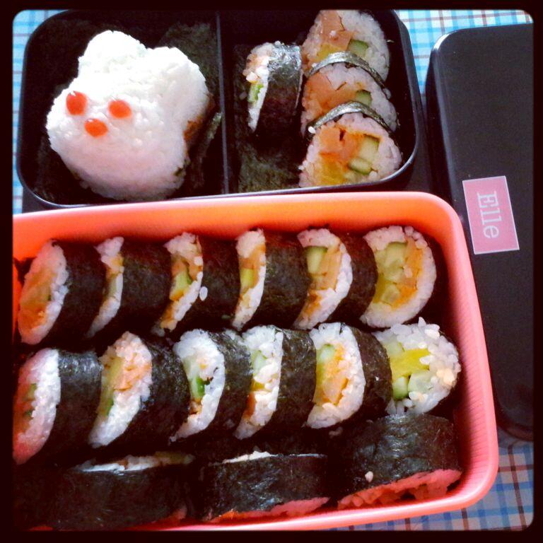 爱心寿司便当╮(╯3╰)╭紫菜包饭的做法_【图解】╮