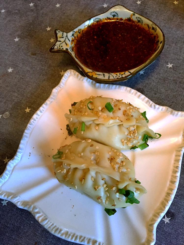 家庭早餐-煎饺锅贴(芹菜虾仁馅)的做法图解9