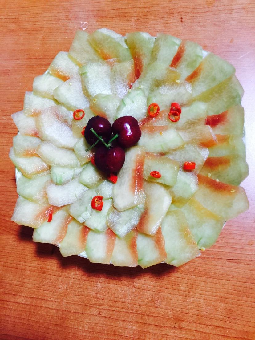 凉拌西瓜皮的做法图解5