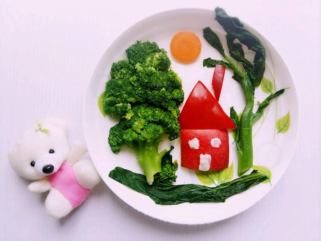 我爱我家(蔬菜水果拼盘)#最萌缤纷儿童节