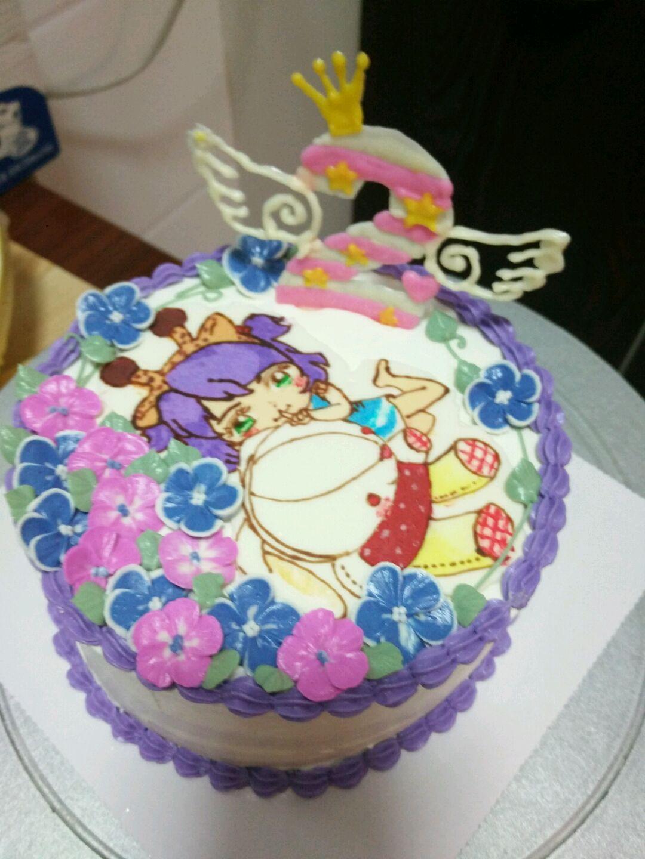 奶油转印蛋糕 躲猫猫的小女孩儿