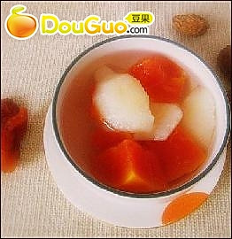 抗衰养颜:木瓜红梨汤的做法