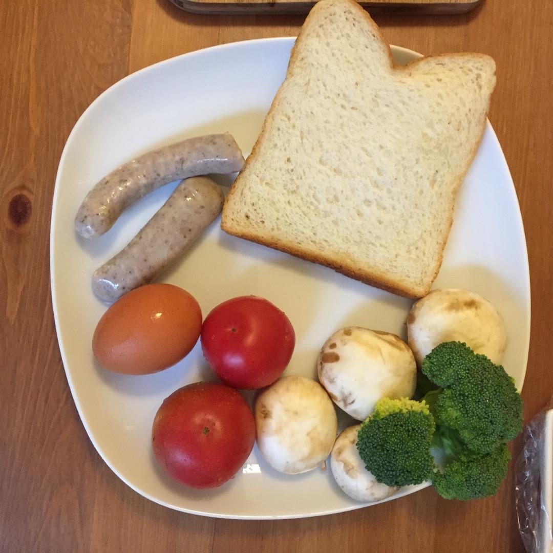 水波蛋早餐的做法图解1