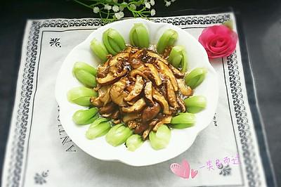 蚝汁香菇油菜 #我要上首页清爽家常菜#